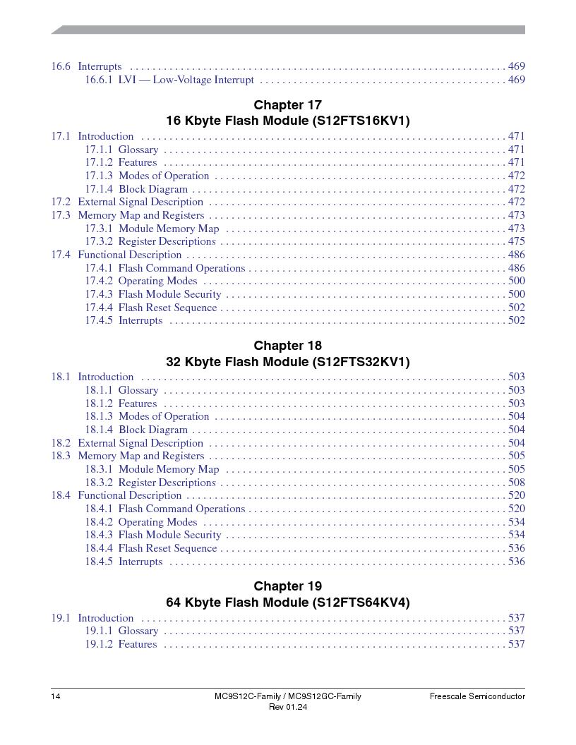 MC9S12GC96VFUE ,Freescale Semiconductor厂商,IC MCU 96K FLASH 25MHZ 80-QFP, MC9S12GC96VFUE datasheet预览  第14页