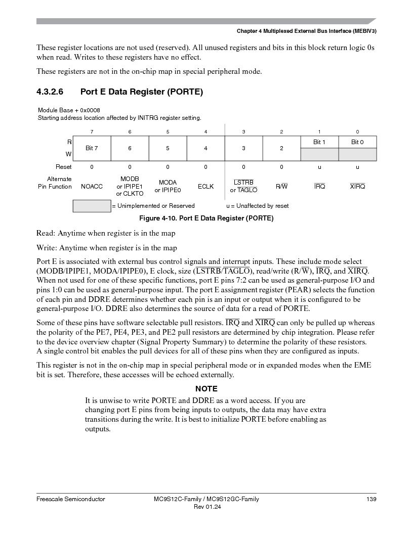 MC9S12GC96VFUE ,Freescale Semiconductor厂商,IC MCU 96K FLASH 25MHZ 80-QFP, MC9S12GC96VFUE datasheet预览  第139页