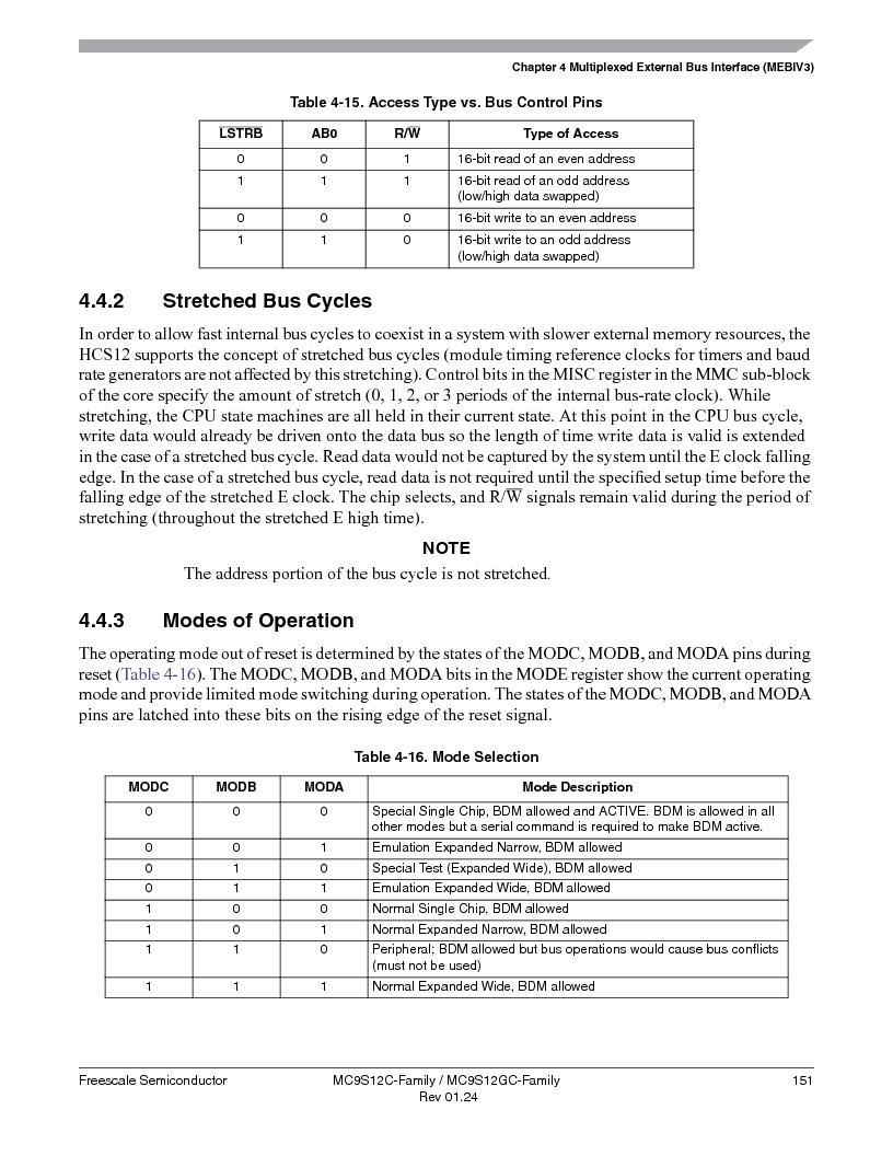 MC9S12GC96VFUE ,Freescale Semiconductor厂商,IC MCU 96K FLASH 25MHZ 80-QFP, MC9S12GC96VFUE datasheet预览  第151页