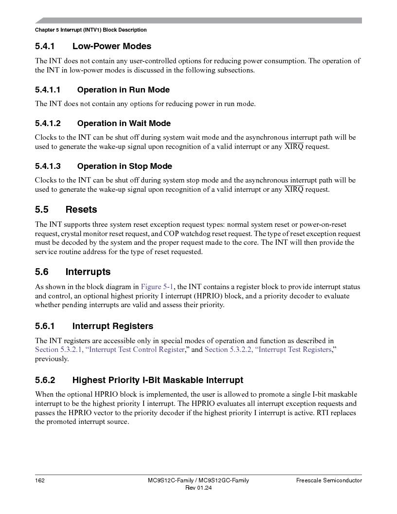 MC9S12GC96VFUE ,Freescale Semiconductor厂商,IC MCU 96K FLASH 25MHZ 80-QFP, MC9S12GC96VFUE datasheet预览  第162页