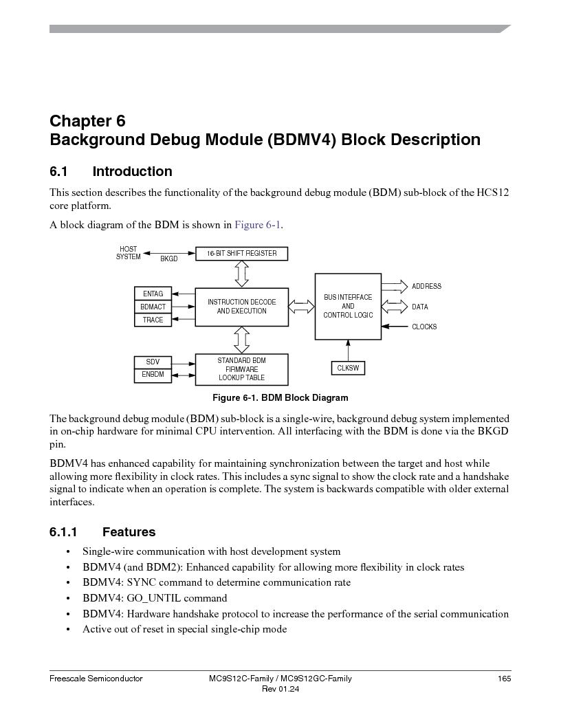 MC9S12GC96VFUE ,Freescale Semiconductor厂商,IC MCU 96K FLASH 25MHZ 80-QFP, MC9S12GC96VFUE datasheet预览  第165页