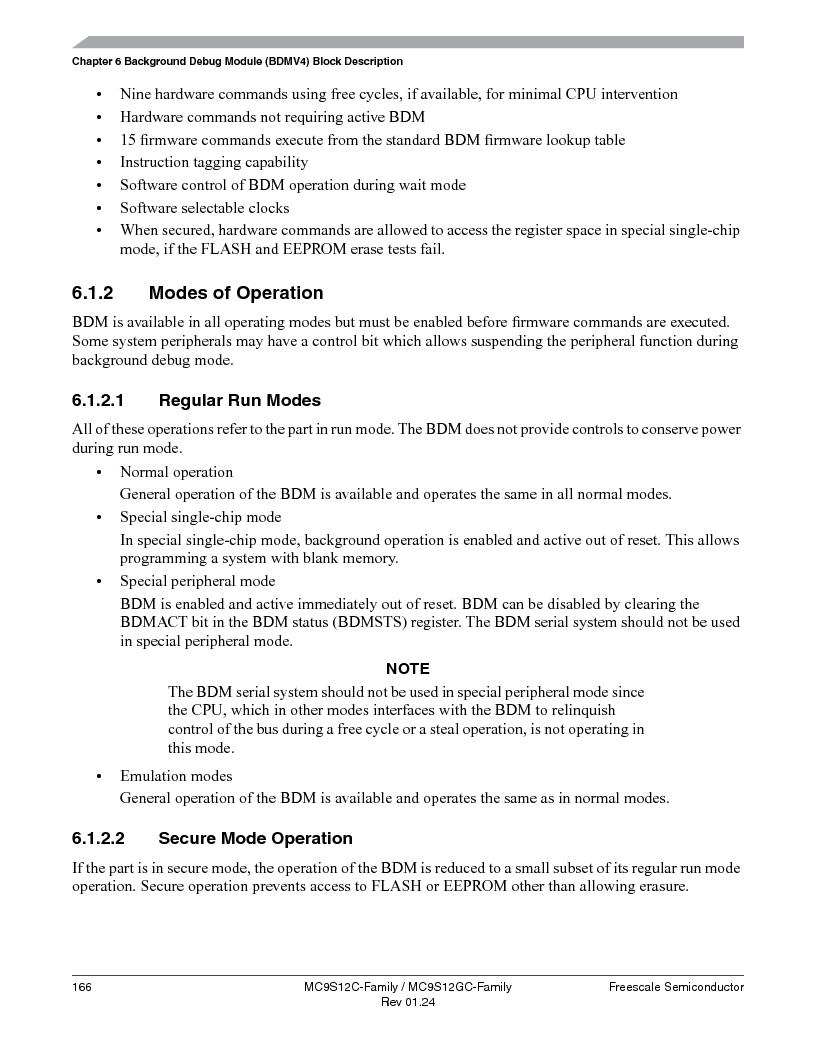 MC9S12GC96VFUE ,Freescale Semiconductor厂商,IC MCU 96K FLASH 25MHZ 80-QFP, MC9S12GC96VFUE datasheet预览  第166页