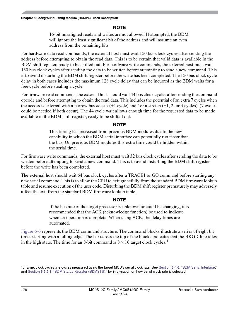 MC9S12GC96VFUE ,Freescale Semiconductor厂商,IC MCU 96K FLASH 25MHZ 80-QFP, MC9S12GC96VFUE datasheet预览  第178页