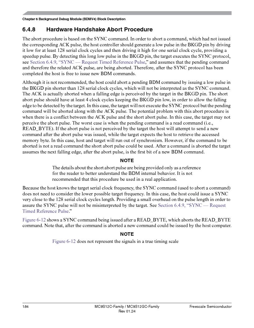 MC9S12GC96VFUE ,Freescale Semiconductor厂商,IC MCU 96K FLASH 25MHZ 80-QFP, MC9S12GC96VFUE datasheet预览  第184页