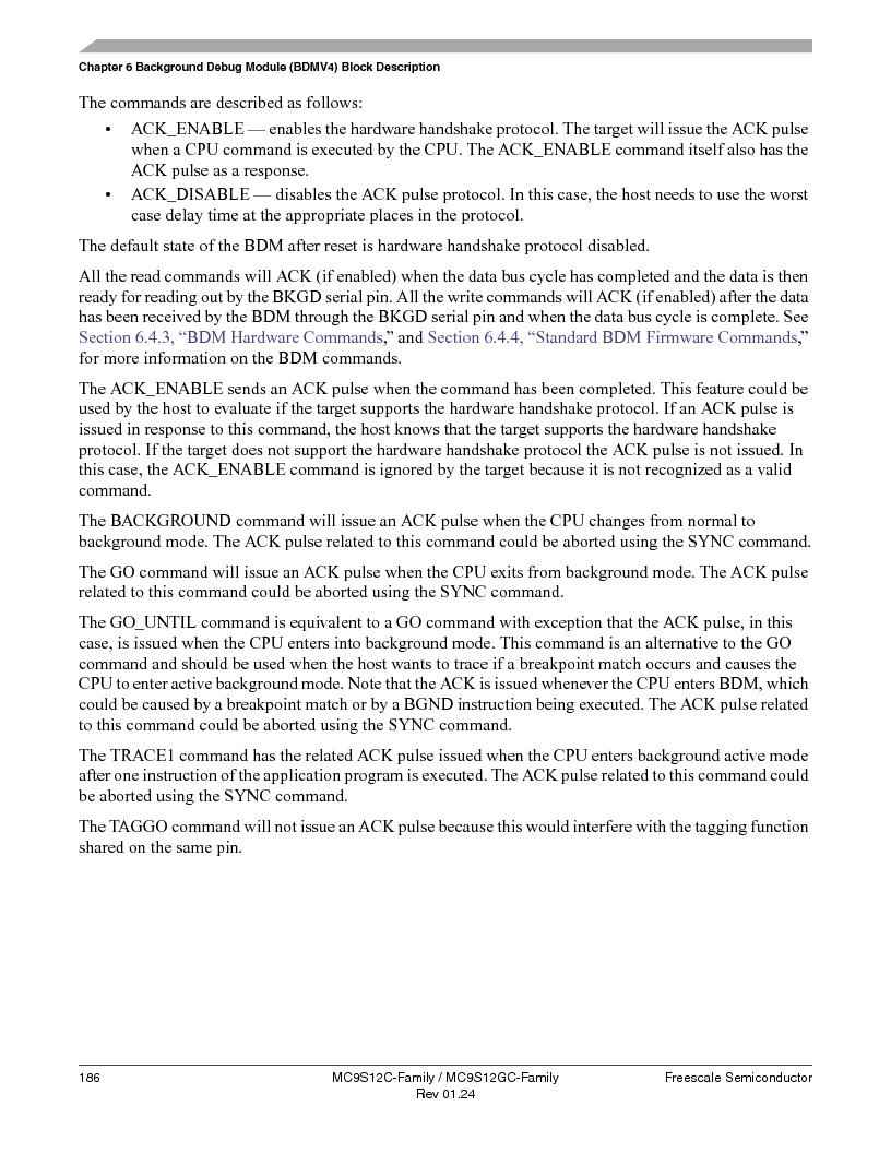 MC9S12GC96VFUE ,Freescale Semiconductor厂商,IC MCU 96K FLASH 25MHZ 80-QFP, MC9S12GC96VFUE datasheet预览  第186页