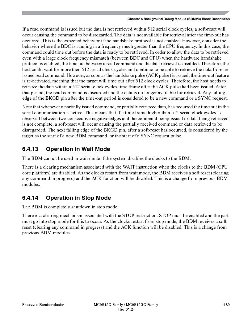 MC9S12GC96VFUE ,Freescale Semiconductor厂商,IC MCU 96K FLASH 25MHZ 80-QFP, MC9S12GC96VFUE datasheet预览  第189页