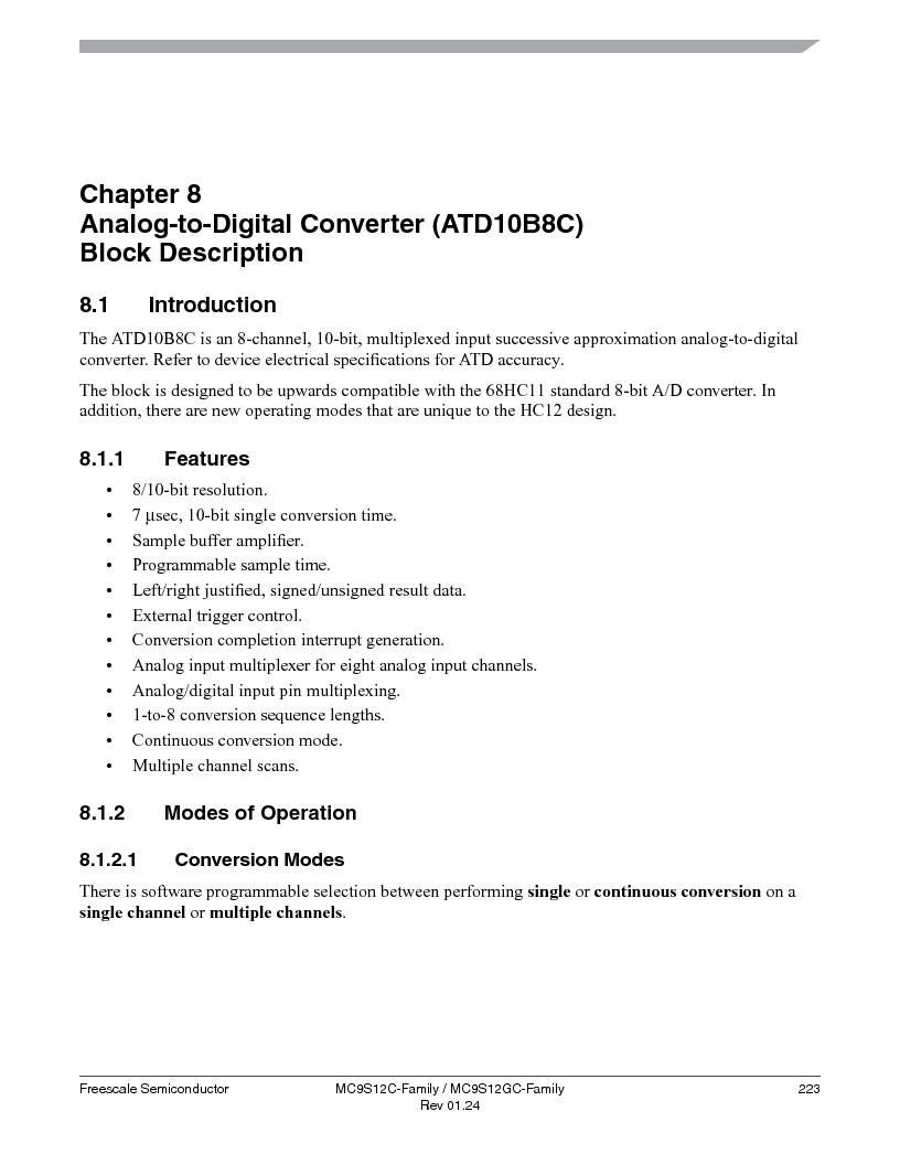 MC9S12GC96VFUE ,Freescale Semiconductor厂商,IC MCU 96K FLASH 25MHZ 80-QFP, MC9S12GC96VFUE datasheet预览  第223页