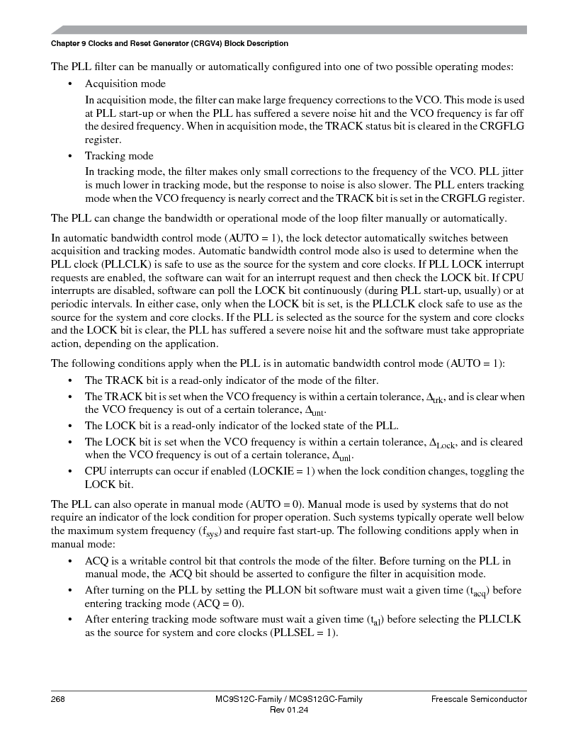MC9S12GC96VFUE ,Freescale Semiconductor厂商,IC MCU 96K FLASH 25MHZ 80-QFP, MC9S12GC96VFUE datasheet预览  第268页