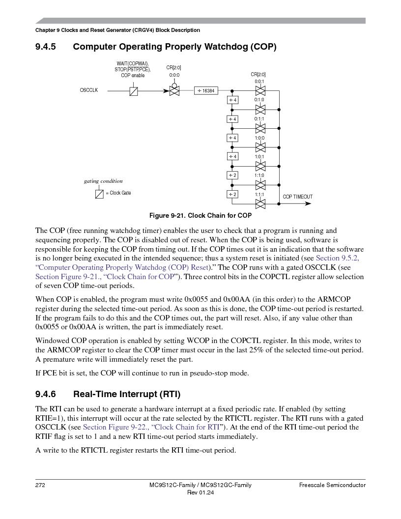 MC9S12GC96VFUE ,Freescale Semiconductor厂商,IC MCU 96K FLASH 25MHZ 80-QFP, MC9S12GC96VFUE datasheet预览  第272页