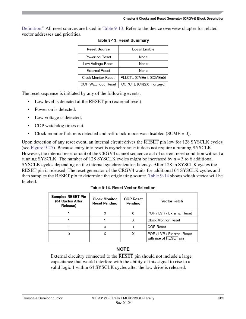 MC9S12GC96VFUE ,Freescale Semiconductor厂商,IC MCU 96K FLASH 25MHZ 80-QFP, MC9S12GC96VFUE datasheet预览  第283页