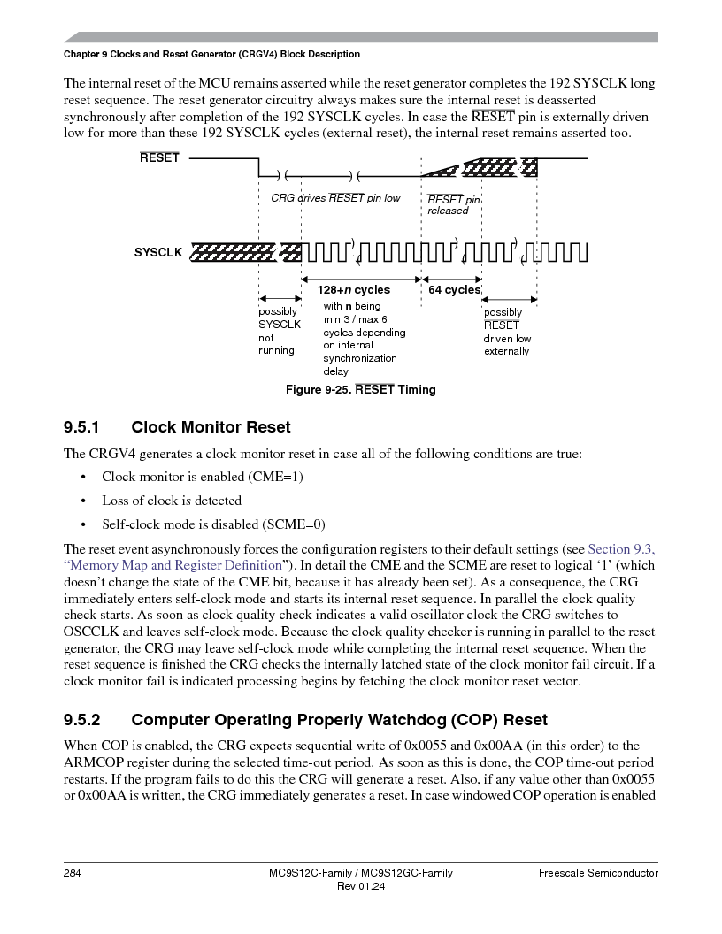 MC9S12GC96VFUE ,Freescale Semiconductor厂商,IC MCU 96K FLASH 25MHZ 80-QFP, MC9S12GC96VFUE datasheet预览  第284页