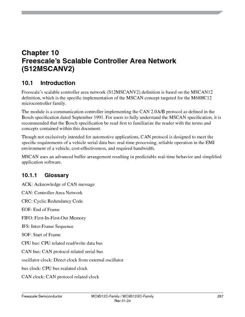 MC9S12GC96VFUE ,Freescale Semiconductor厂商,IC MCU 96K FLASH 25MHZ 80-QFP, MC9S12GC96VFUE datasheet预览  第287页