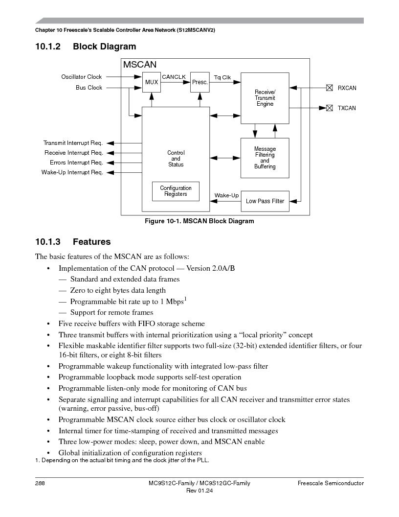 MC9S12GC96VFUE ,Freescale Semiconductor厂商,IC MCU 96K FLASH 25MHZ 80-QFP, MC9S12GC96VFUE datasheet预览  第288页