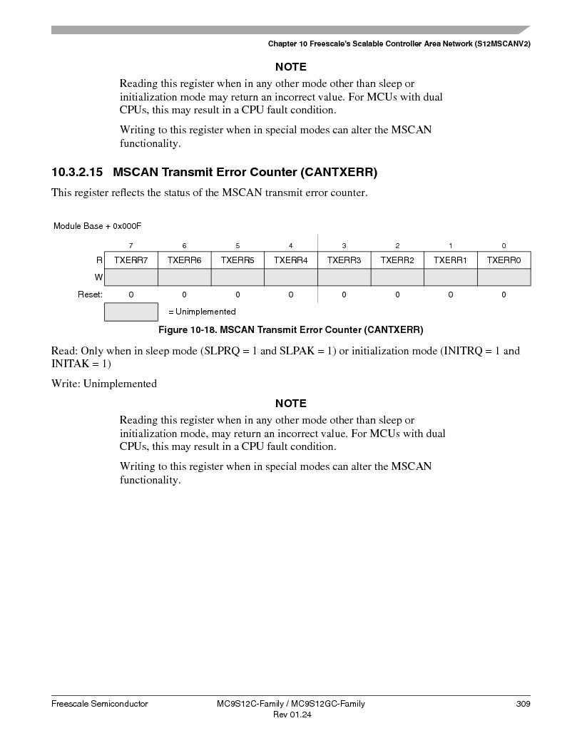 MC9S12GC96VFUE ,Freescale Semiconductor厂商,IC MCU 96K FLASH 25MHZ 80-QFP, MC9S12GC96VFUE datasheet预览  第309页