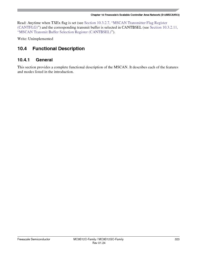 MC9S12GC96VFUE ,Freescale Semiconductor厂商,IC MCU 96K FLASH 25MHZ 80-QFP, MC9S12GC96VFUE datasheet预览  第323页