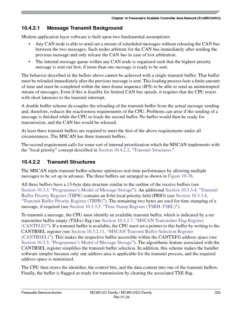 MC9S12GC96VFUE ,Freescale Semiconductor厂商,IC MCU 96K FLASH 25MHZ 80-QFP, MC9S12GC96VFUE datasheet预览  第325页