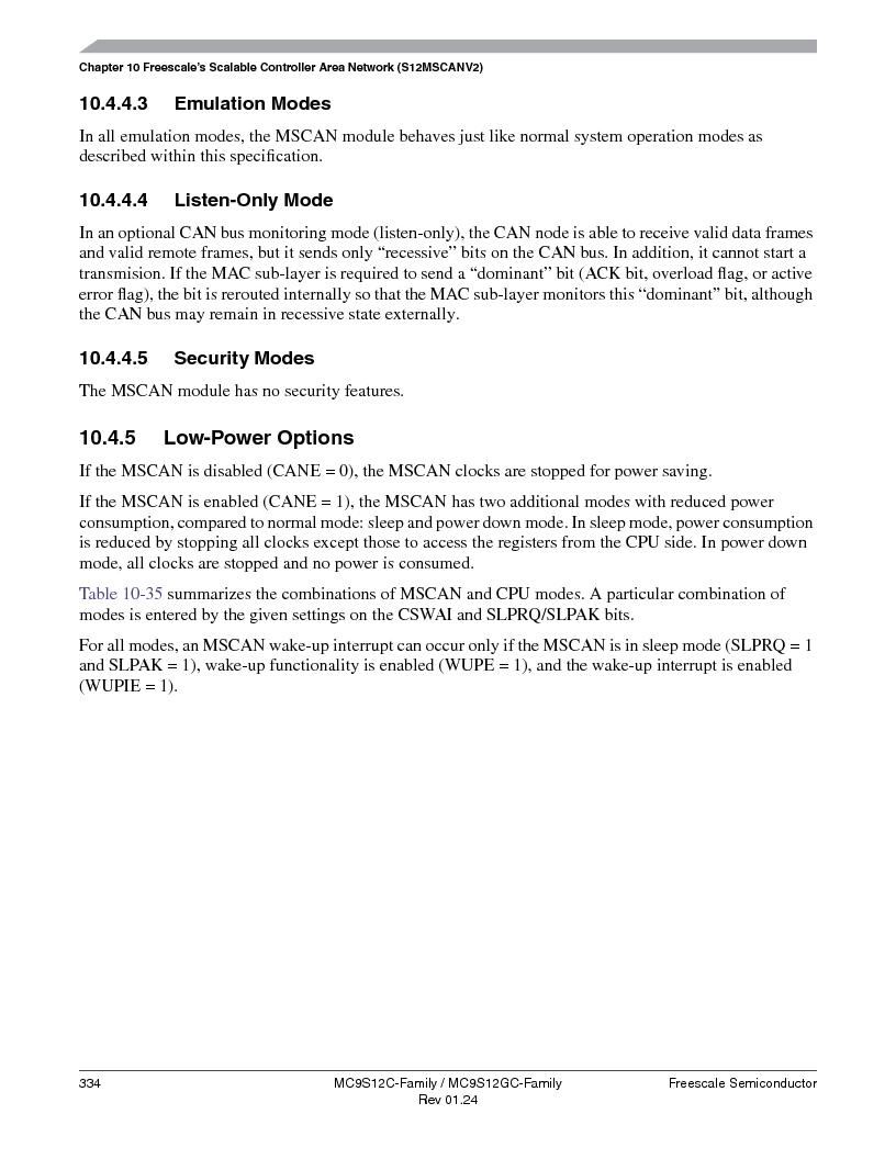 MC9S12GC96VFUE ,Freescale Semiconductor厂商,IC MCU 96K FLASH 25MHZ 80-QFP, MC9S12GC96VFUE datasheet预览  第334页