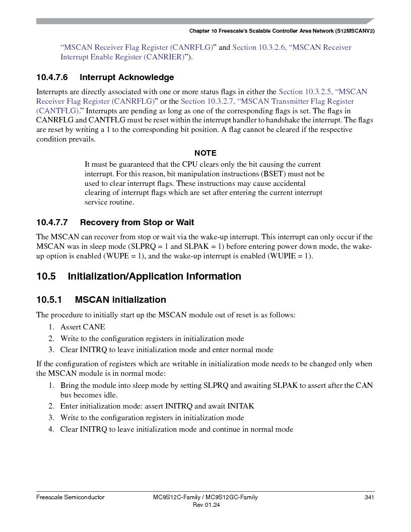MC9S12GC96VFUE ,Freescale Semiconductor厂商,IC MCU 96K FLASH 25MHZ 80-QFP, MC9S12GC96VFUE datasheet预览  第341页