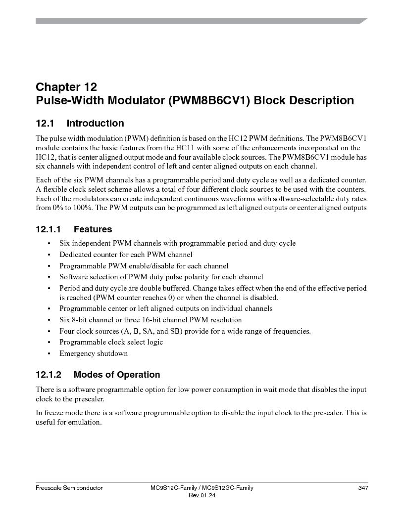 MC9S12GC96VFUE ,Freescale Semiconductor厂商,IC MCU 96K FLASH 25MHZ 80-QFP, MC9S12GC96VFUE datasheet预览  第347页