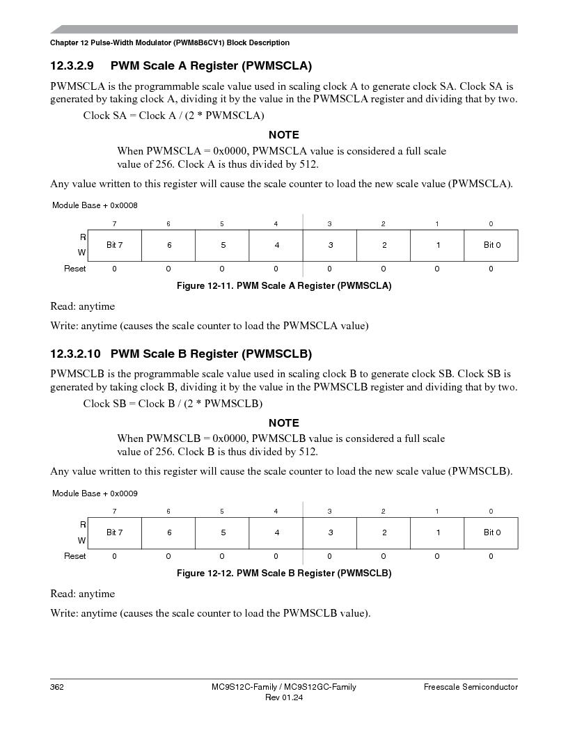 MC9S12GC96VFUE ,Freescale Semiconductor厂商,IC MCU 96K FLASH 25MHZ 80-QFP, MC9S12GC96VFUE datasheet预览  第362页