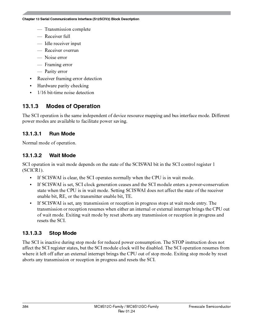 MC9S12GC96VFUE ,Freescale Semiconductor厂商,IC MCU 96K FLASH 25MHZ 80-QFP, MC9S12GC96VFUE datasheet预览  第384页