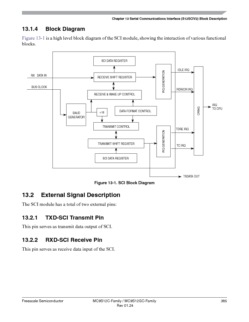 MC9S12GC96VFUE ,Freescale Semiconductor厂商,IC MCU 96K FLASH 25MHZ 80-QFP, MC9S12GC96VFUE datasheet预览  第385页