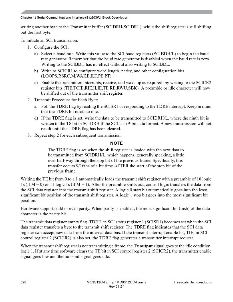 MC9S12GC96VFUE ,Freescale Semiconductor厂商,IC MCU 96K FLASH 25MHZ 80-QFP, MC9S12GC96VFUE datasheet预览  第398页