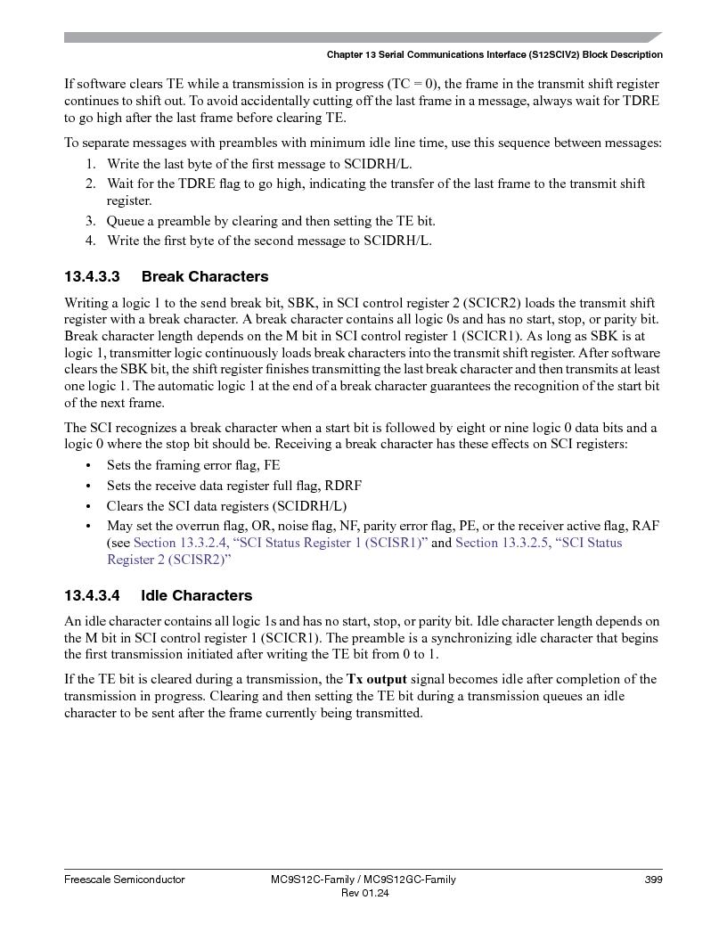 MC9S12GC96VFUE ,Freescale Semiconductor厂商,IC MCU 96K FLASH 25MHZ 80-QFP, MC9S12GC96VFUE datasheet预览  第399页