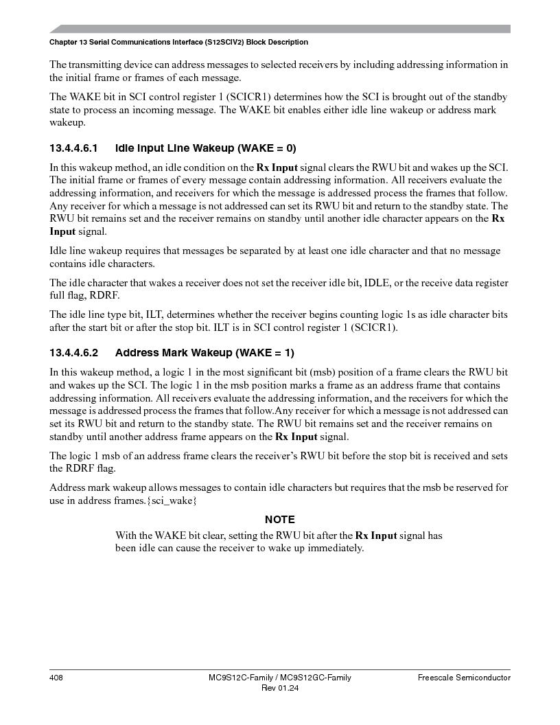 MC9S12GC96VFUE ,Freescale Semiconductor厂商,IC MCU 96K FLASH 25MHZ 80-QFP, MC9S12GC96VFUE datasheet预览  第408页