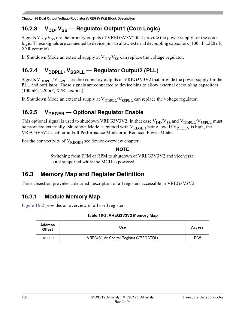 MC9S12GC96VFUE ,Freescale Semiconductor厂商,IC MCU 96K FLASH 25MHZ 80-QFP, MC9S12GC96VFUE datasheet预览  第466页