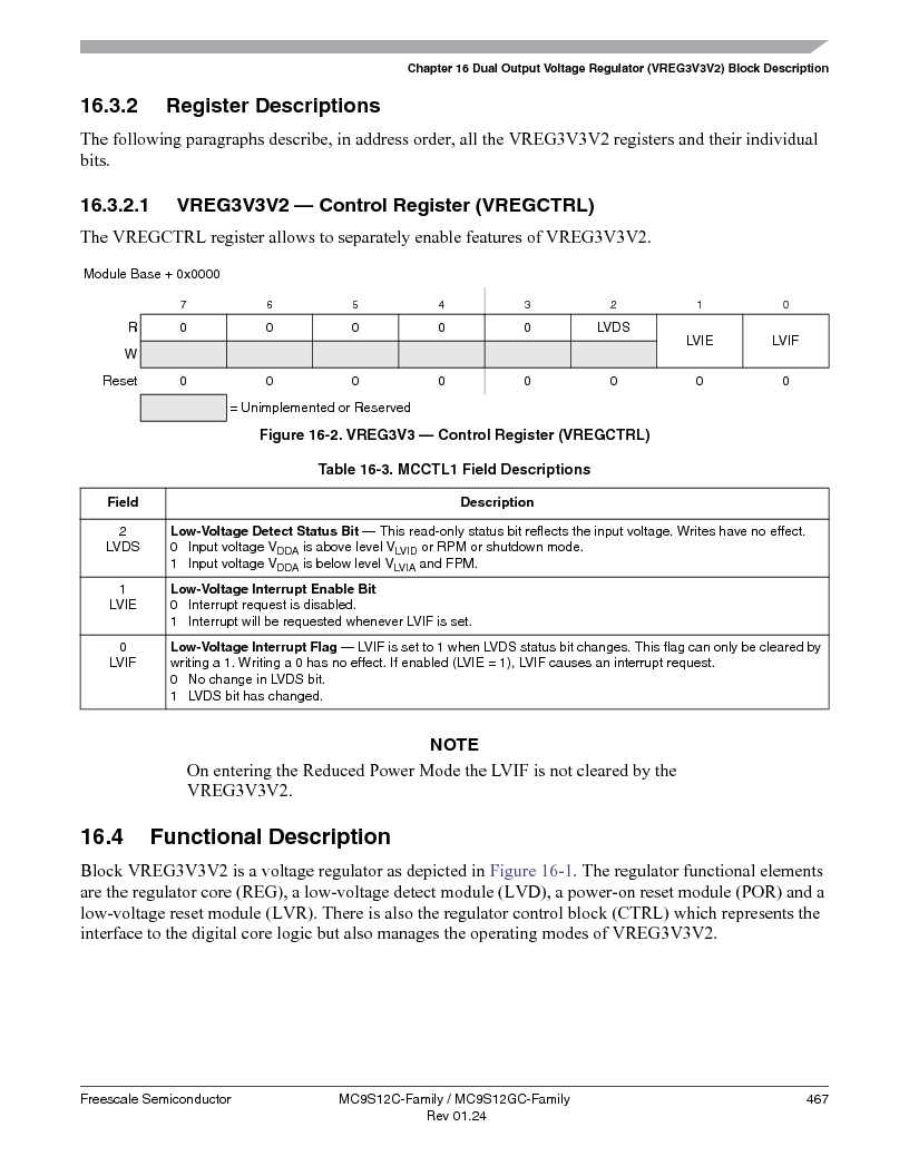 MC9S12GC96VFUE ,Freescale Semiconductor厂商,IC MCU 96K FLASH 25MHZ 80-QFP, MC9S12GC96VFUE datasheet预览  第467页
