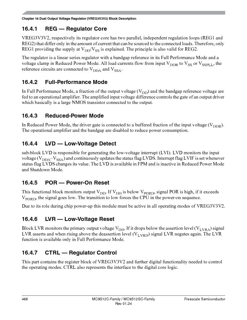 MC9S12GC96VFUE ,Freescale Semiconductor厂商,IC MCU 96K FLASH 25MHZ 80-QFP, MC9S12GC96VFUE datasheet预览  第468页