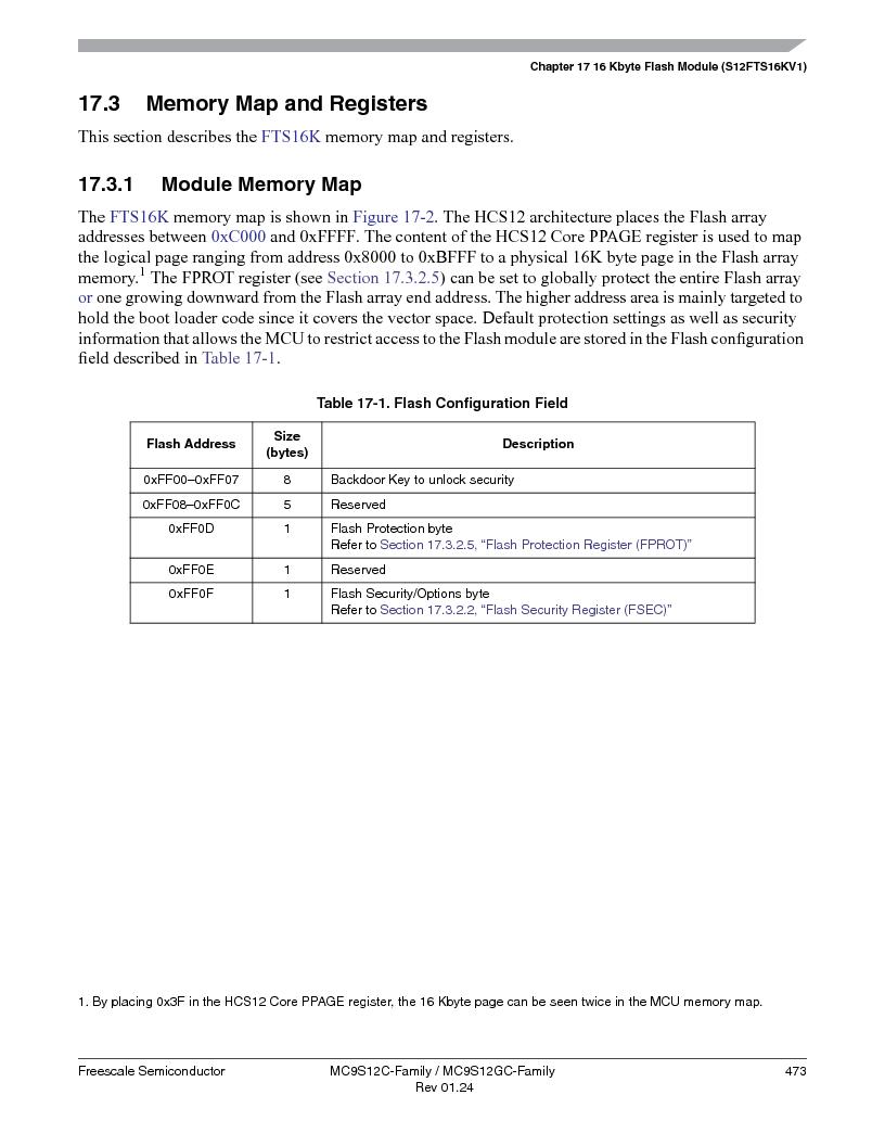 MC9S12GC96VFUE ,Freescale Semiconductor厂商,IC MCU 96K FLASH 25MHZ 80-QFP, MC9S12GC96VFUE datasheet预览  第473页