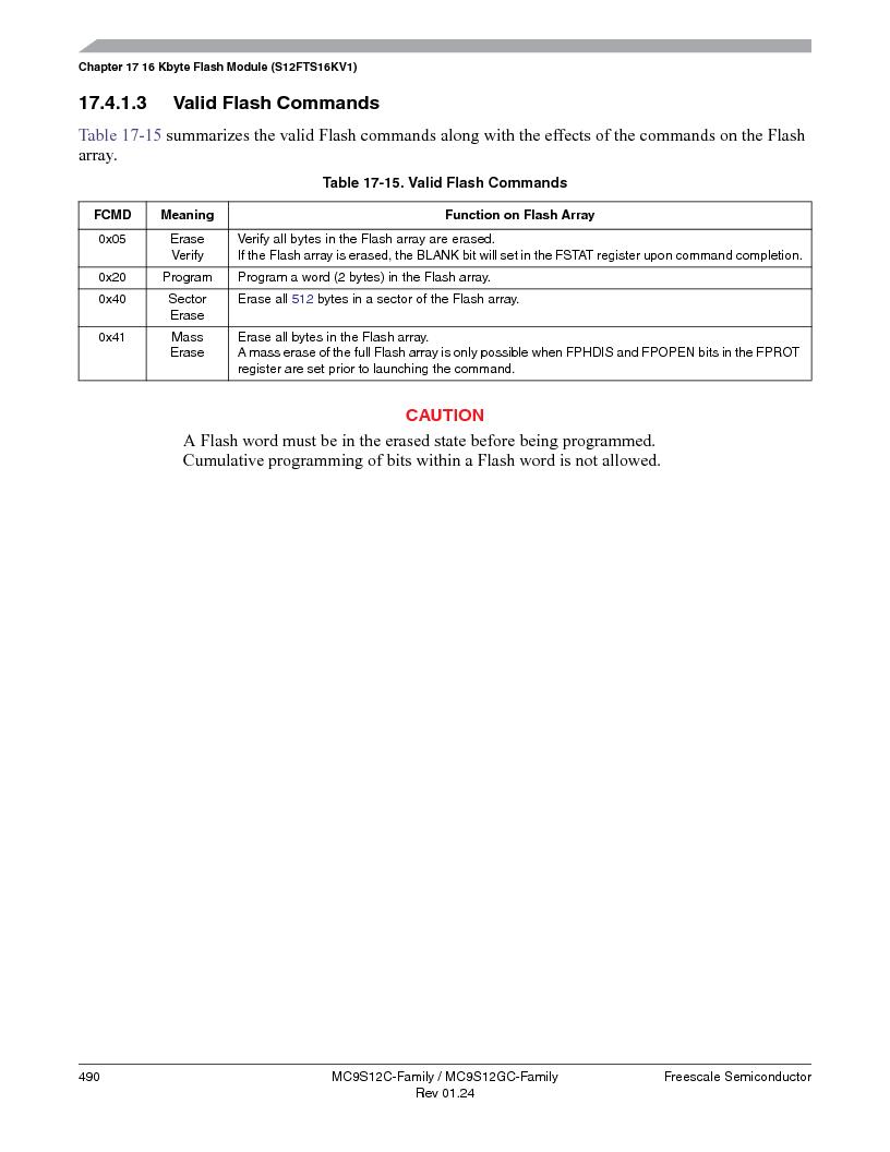 MC9S12GC96VFUE ,Freescale Semiconductor厂商,IC MCU 96K FLASH 25MHZ 80-QFP, MC9S12GC96VFUE datasheet预览  第490页