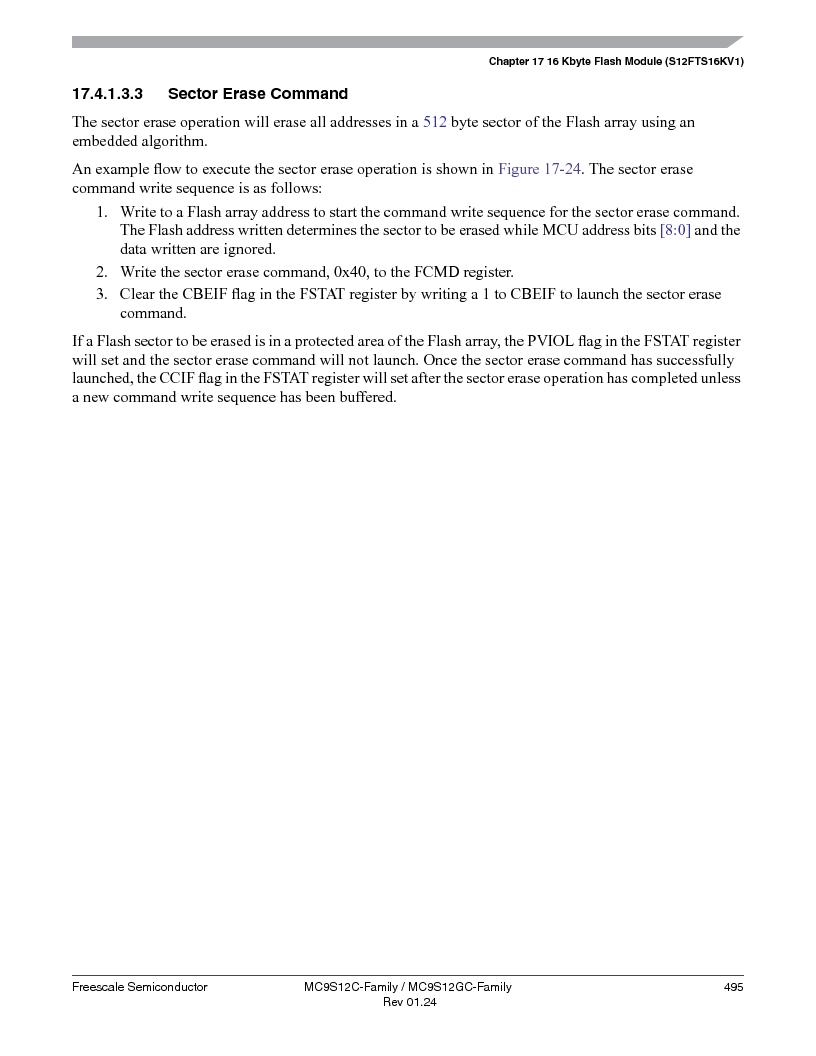 MC9S12GC96VFUE ,Freescale Semiconductor厂商,IC MCU 96K FLASH 25MHZ 80-QFP, MC9S12GC96VFUE datasheet预览  第495页