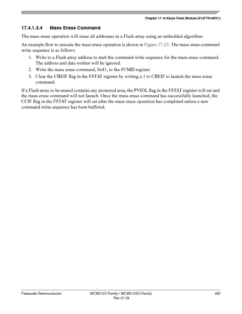 MC9S12GC96VFUE ,Freescale Semiconductor厂商,IC MCU 96K FLASH 25MHZ 80-QFP, MC9S12GC96VFUE datasheet预览  第497页