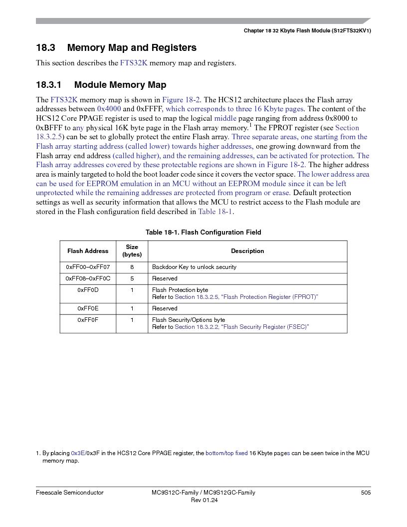 MC9S12GC96VFUE ,Freescale Semiconductor厂商,IC MCU 96K FLASH 25MHZ 80-QFP, MC9S12GC96VFUE datasheet预览  第505页