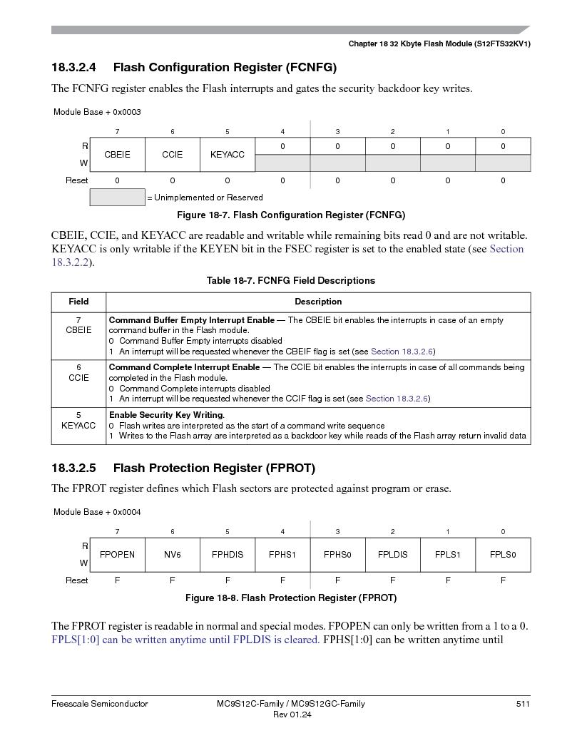 MC9S12GC96VFUE ,Freescale Semiconductor厂商,IC MCU 96K FLASH 25MHZ 80-QFP, MC9S12GC96VFUE datasheet预览  第511页