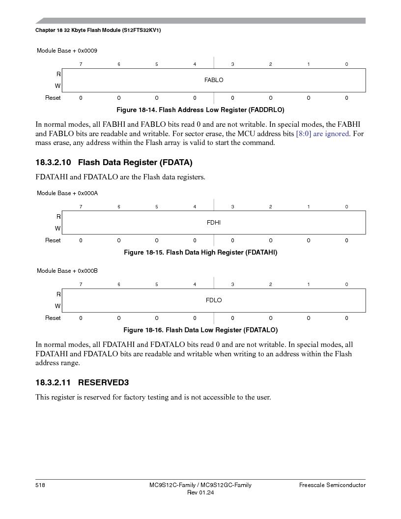 MC9S12GC96VFUE ,Freescale Semiconductor厂商,IC MCU 96K FLASH 25MHZ 80-QFP, MC9S12GC96VFUE datasheet预览  第518页