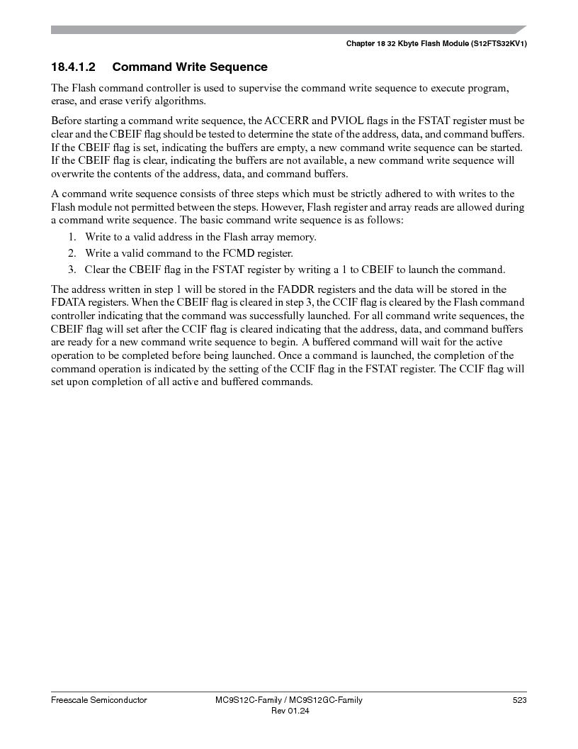 MC9S12GC96VFUE ,Freescale Semiconductor厂商,IC MCU 96K FLASH 25MHZ 80-QFP, MC9S12GC96VFUE datasheet预览  第523页