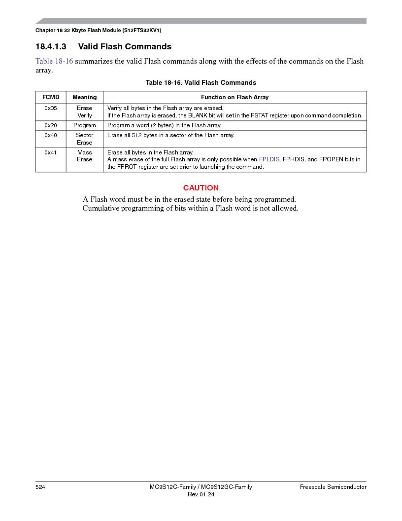 MC9S12GC96VFUE ,Freescale Semiconductor厂商,IC MCU 96K FLASH 25MHZ 80-QFP, MC9S12GC96VFUE datasheet预览  第524页