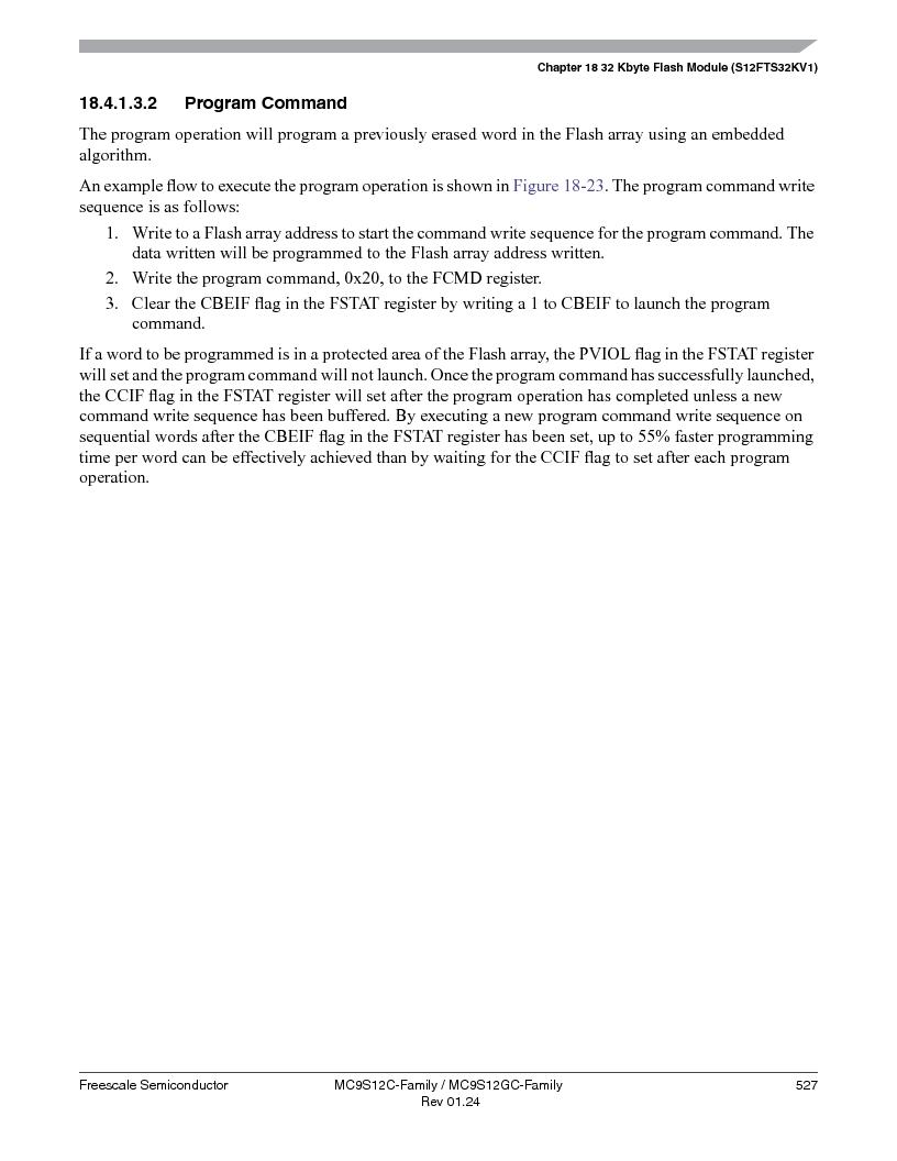 MC9S12GC96VFUE ,Freescale Semiconductor厂商,IC MCU 96K FLASH 25MHZ 80-QFP, MC9S12GC96VFUE datasheet预览  第527页