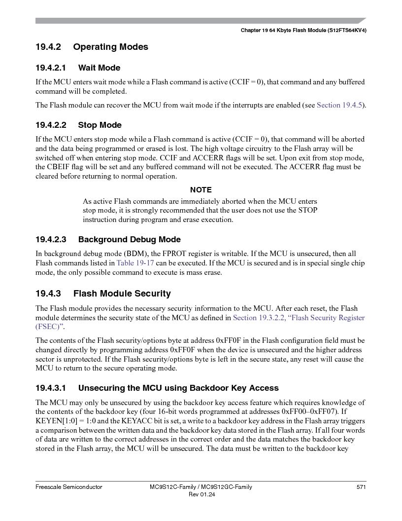 MC9S12GC96VFUE ,Freescale Semiconductor厂商,IC MCU 96K FLASH 25MHZ 80-QFP, MC9S12GC96VFUE datasheet预览  第571页
