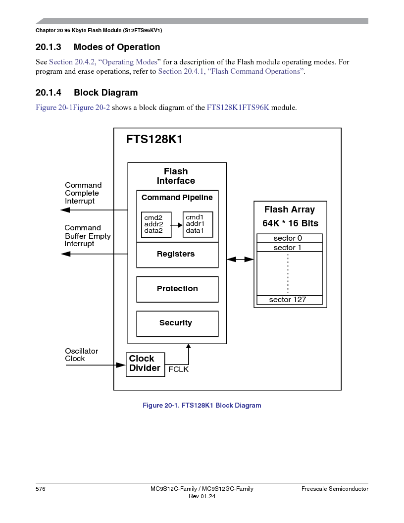 MC9S12GC96VFUE ,Freescale Semiconductor厂商,IC MCU 96K FLASH 25MHZ 80-QFP, MC9S12GC96VFUE datasheet预览  第576页