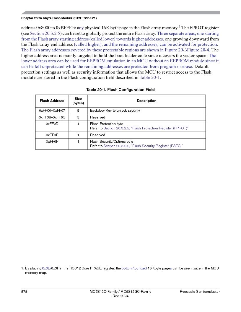 MC9S12GC96VFUE ,Freescale Semiconductor厂商,IC MCU 96K FLASH 25MHZ 80-QFP, MC9S12GC96VFUE datasheet预览  第578页