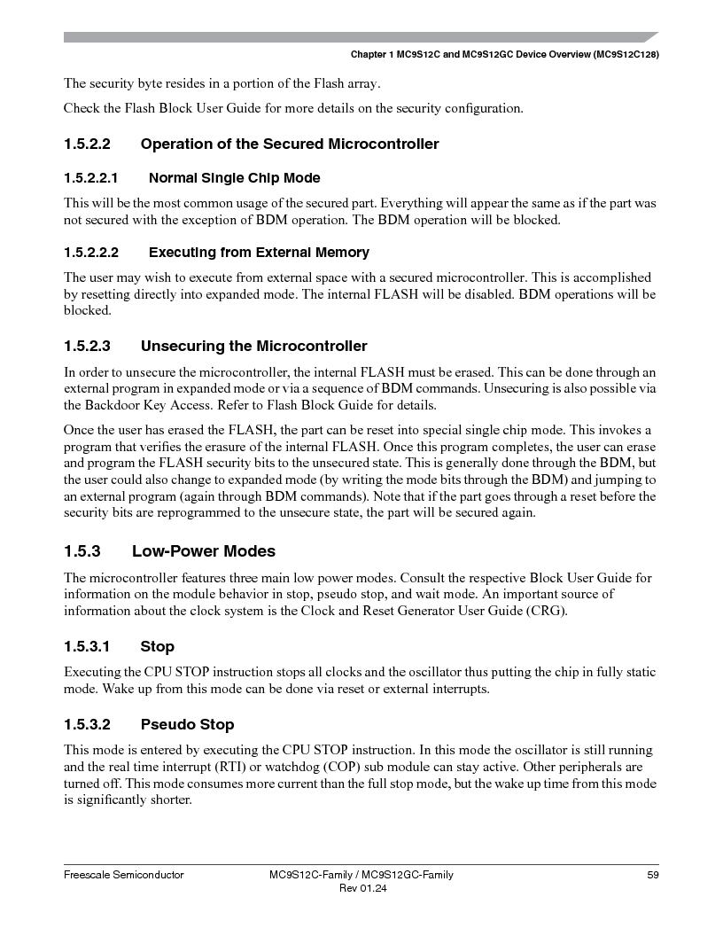 MC9S12GC96VFUE ,Freescale Semiconductor厂商,IC MCU 96K FLASH 25MHZ 80-QFP, MC9S12GC96VFUE datasheet预览  第59页