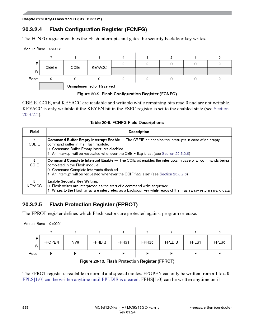 MC9S12GC96VFUE ,Freescale Semiconductor厂商,IC MCU 96K FLASH 25MHZ 80-QFP, MC9S12GC96VFUE datasheet预览  第586页