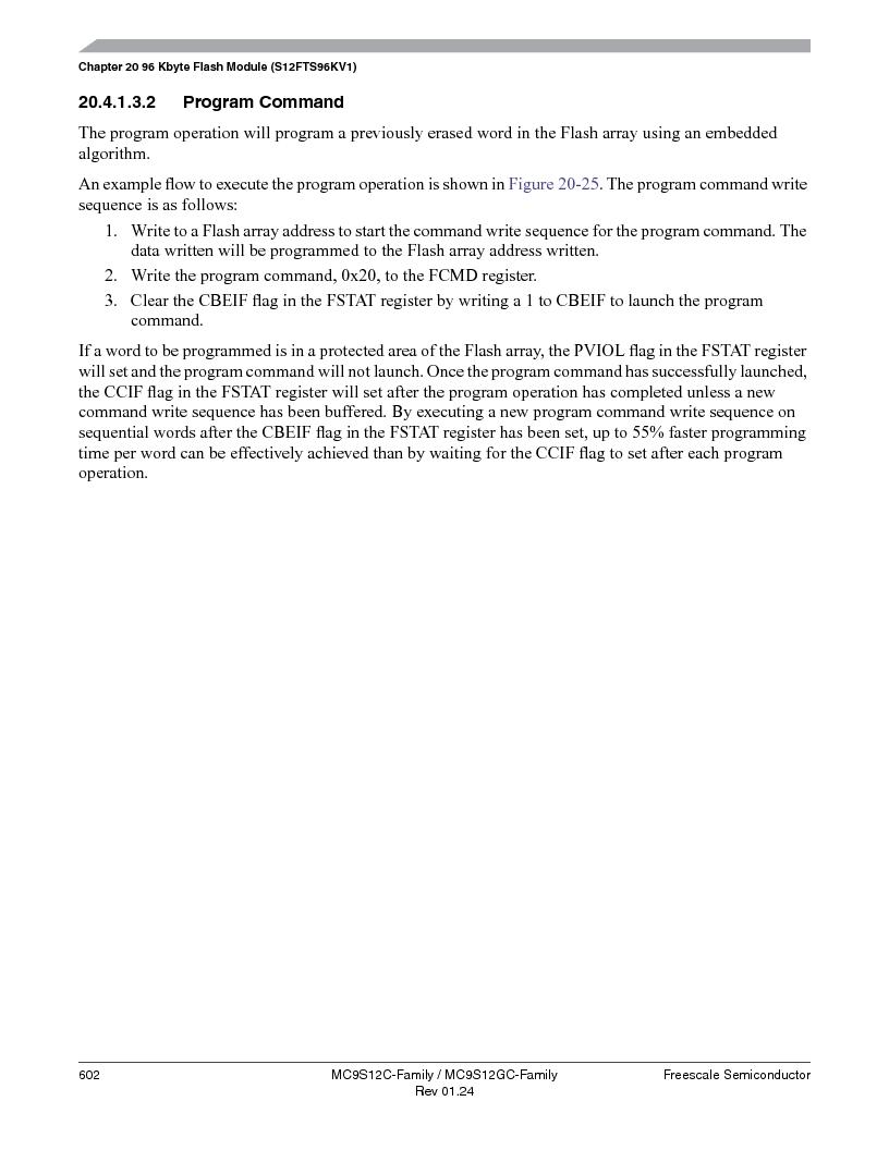 MC9S12GC96VFUE ,Freescale Semiconductor厂商,IC MCU 96K FLASH 25MHZ 80-QFP, MC9S12GC96VFUE datasheet预览  第602页