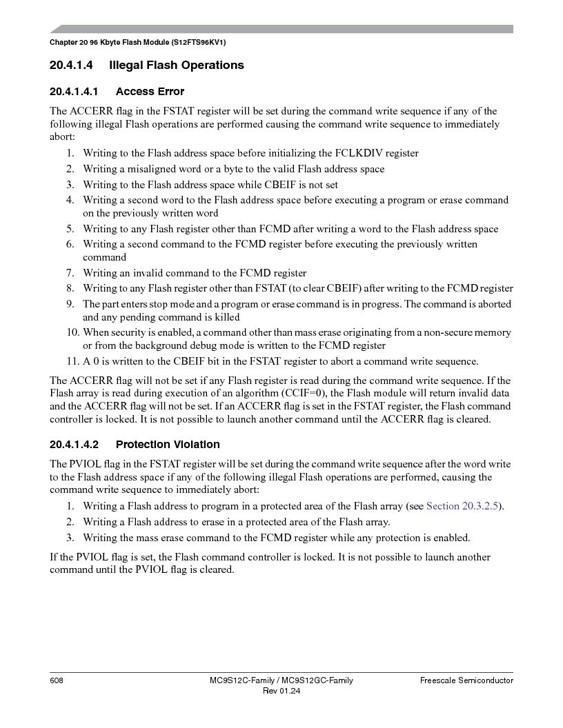 MC9S12GC96VFUE ,Freescale Semiconductor厂商,IC MCU 96K FLASH 25MHZ 80-QFP, MC9S12GC96VFUE datasheet预览  第608页