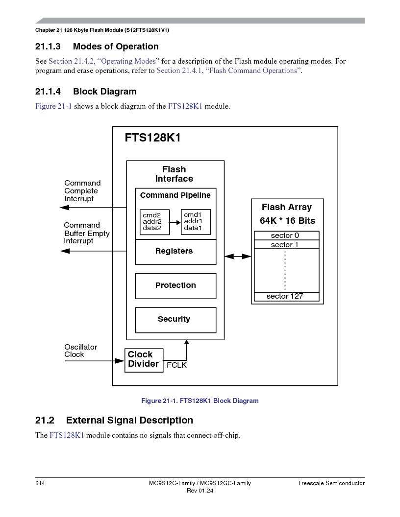 MC9S12GC96VFUE ,Freescale Semiconductor厂商,IC MCU 96K FLASH 25MHZ 80-QFP, MC9S12GC96VFUE datasheet预览  第614页